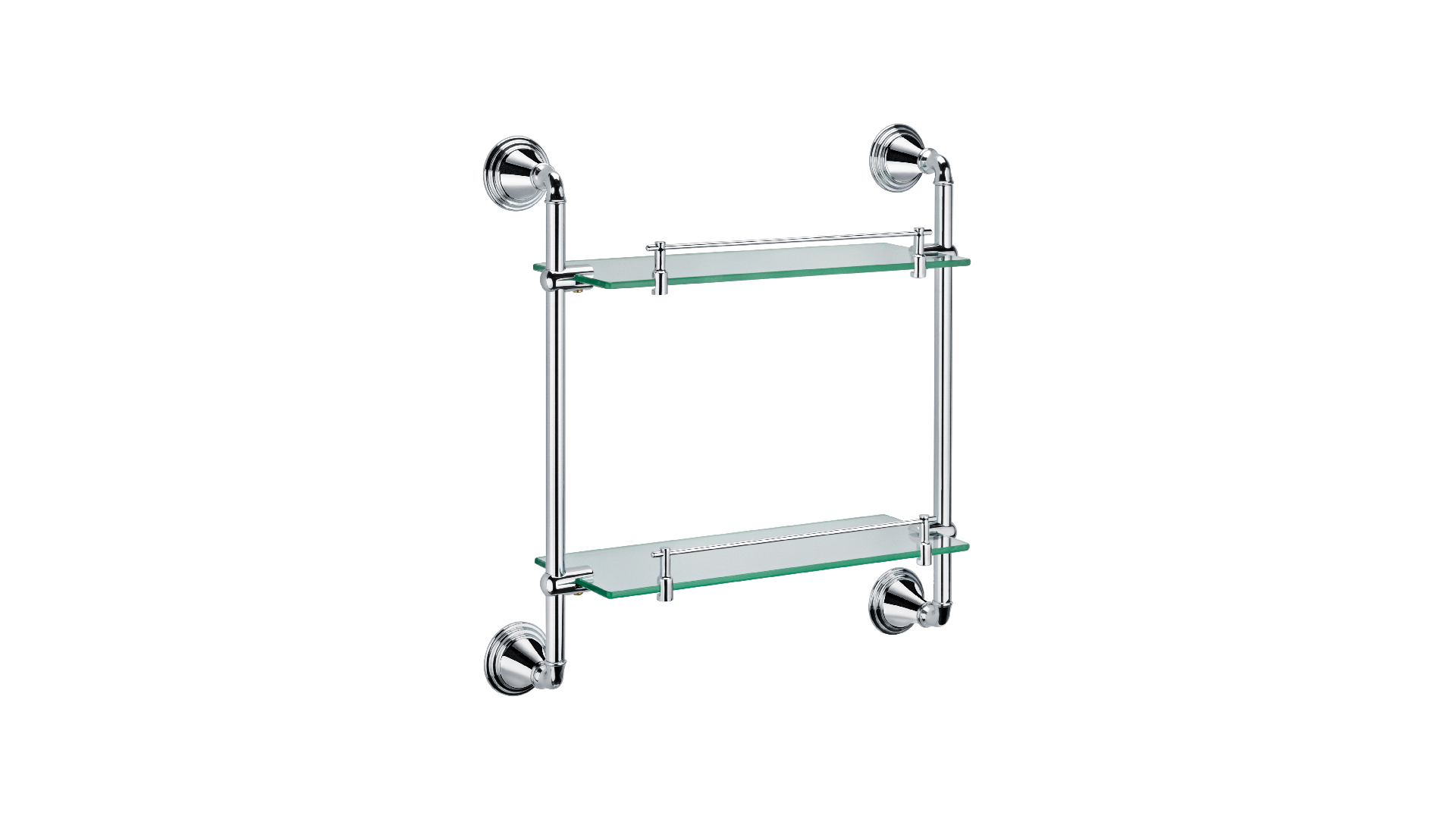 Полка стеклянная 2-х этажная