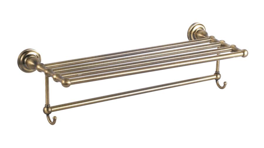 Полка для полотенец с крючками