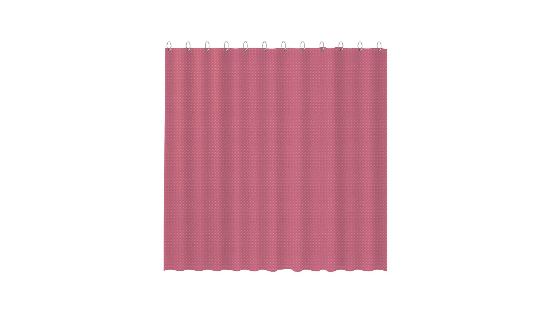 3D штора для ванной розовая