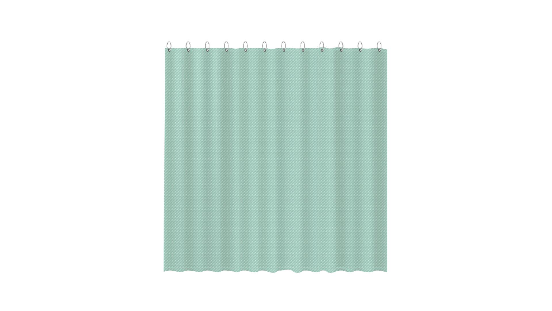 3D штора для ванной зеленая