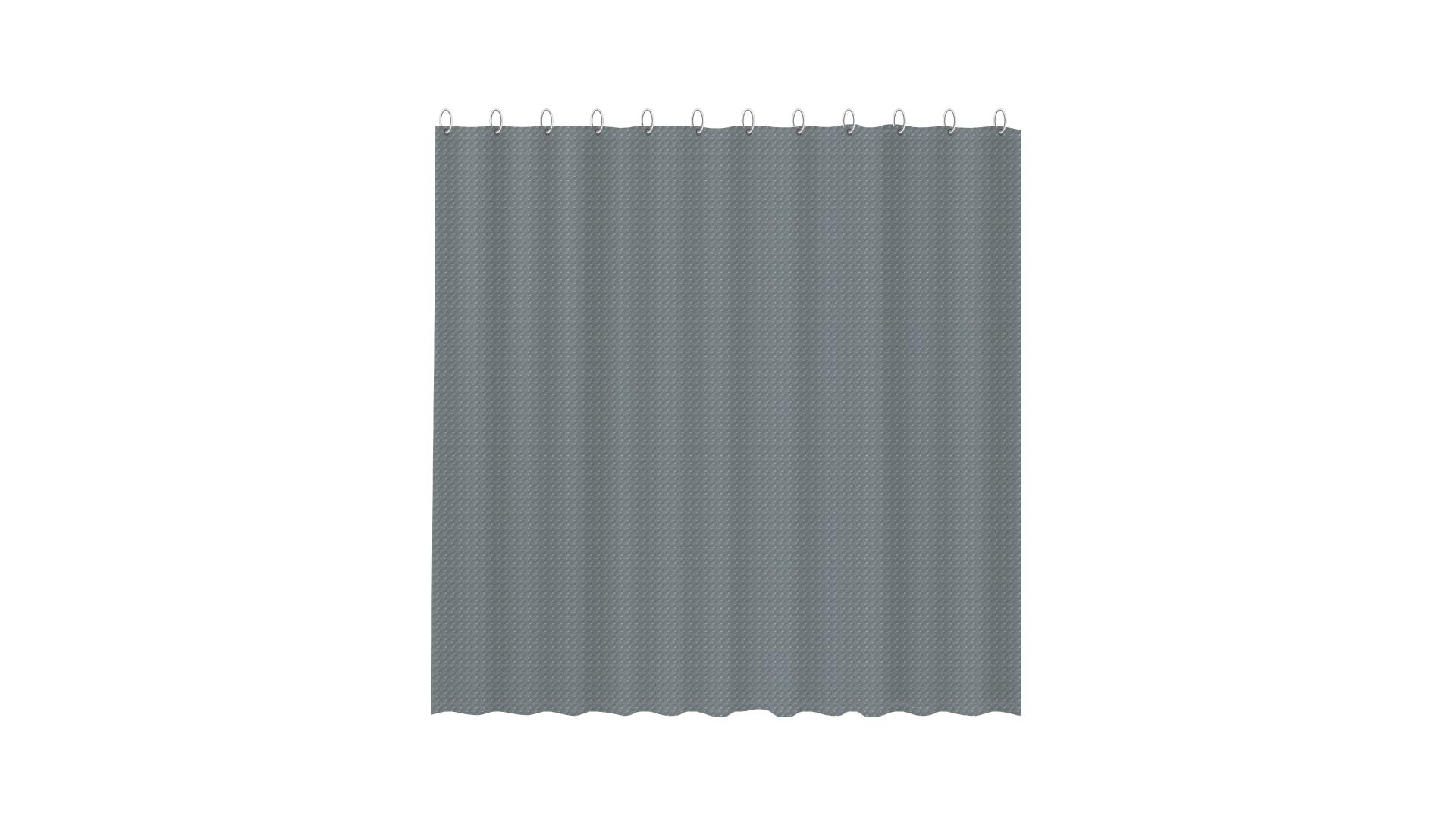 3D штора для ванной серая