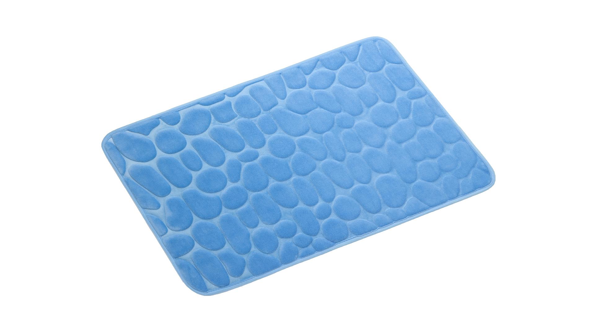 Коврик для ванной Stones синий