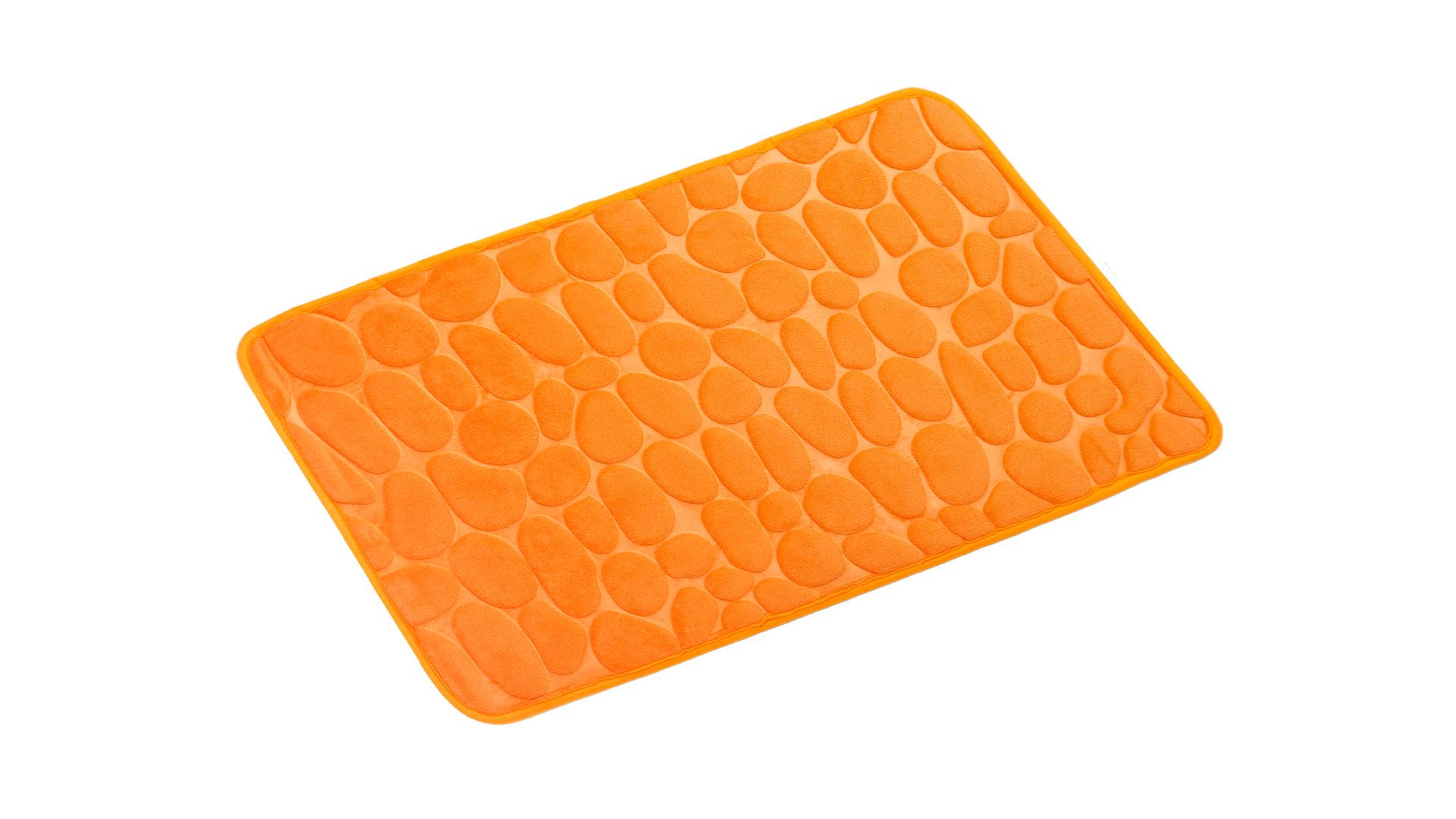 Коврик для ванной Stones оранжевый