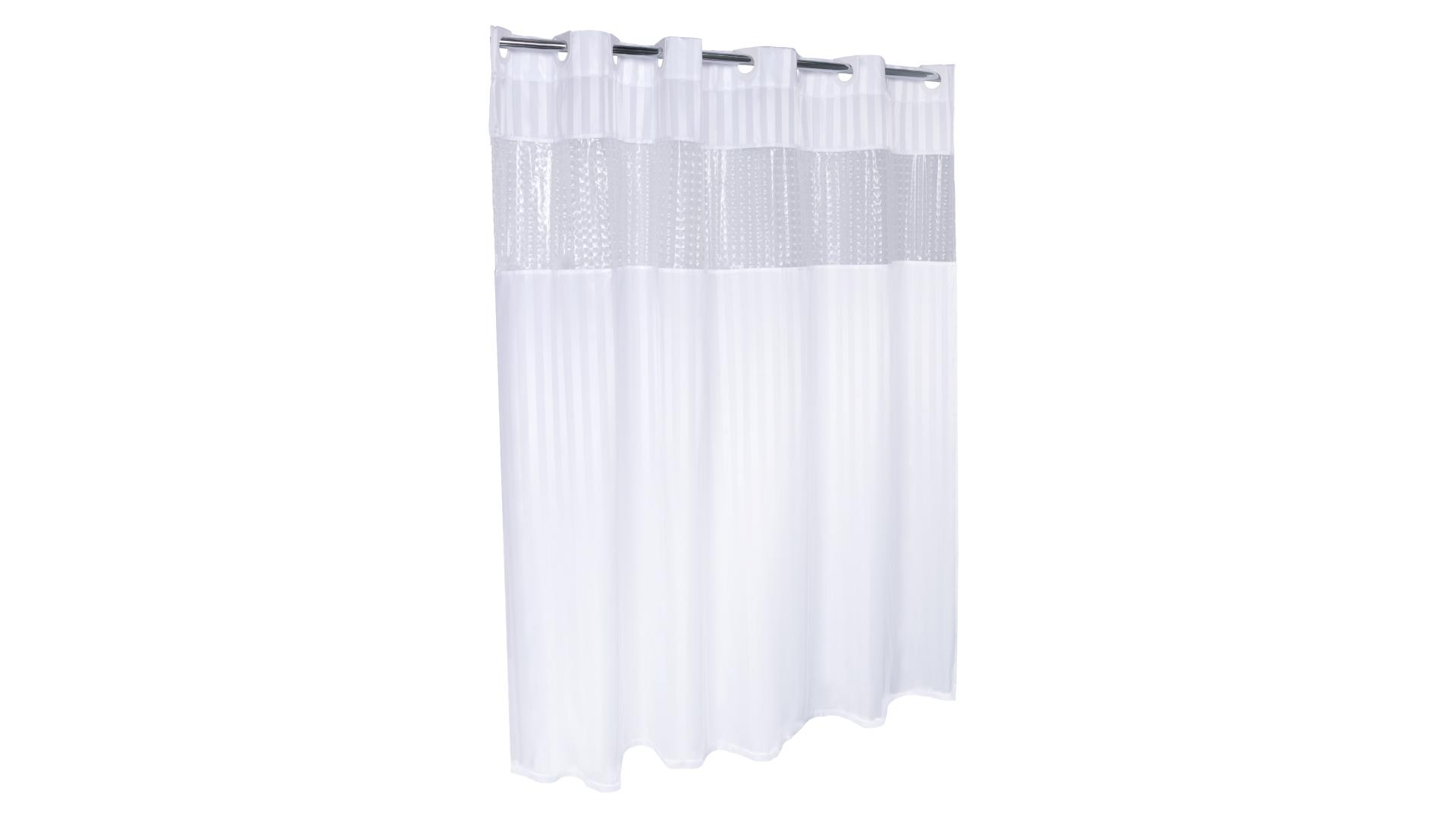 Тканевая штора для ванной с 3D вставкой FX-5115E