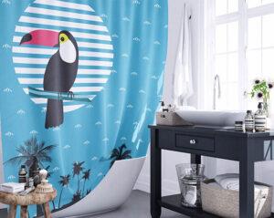 Стильные шторки для ванной