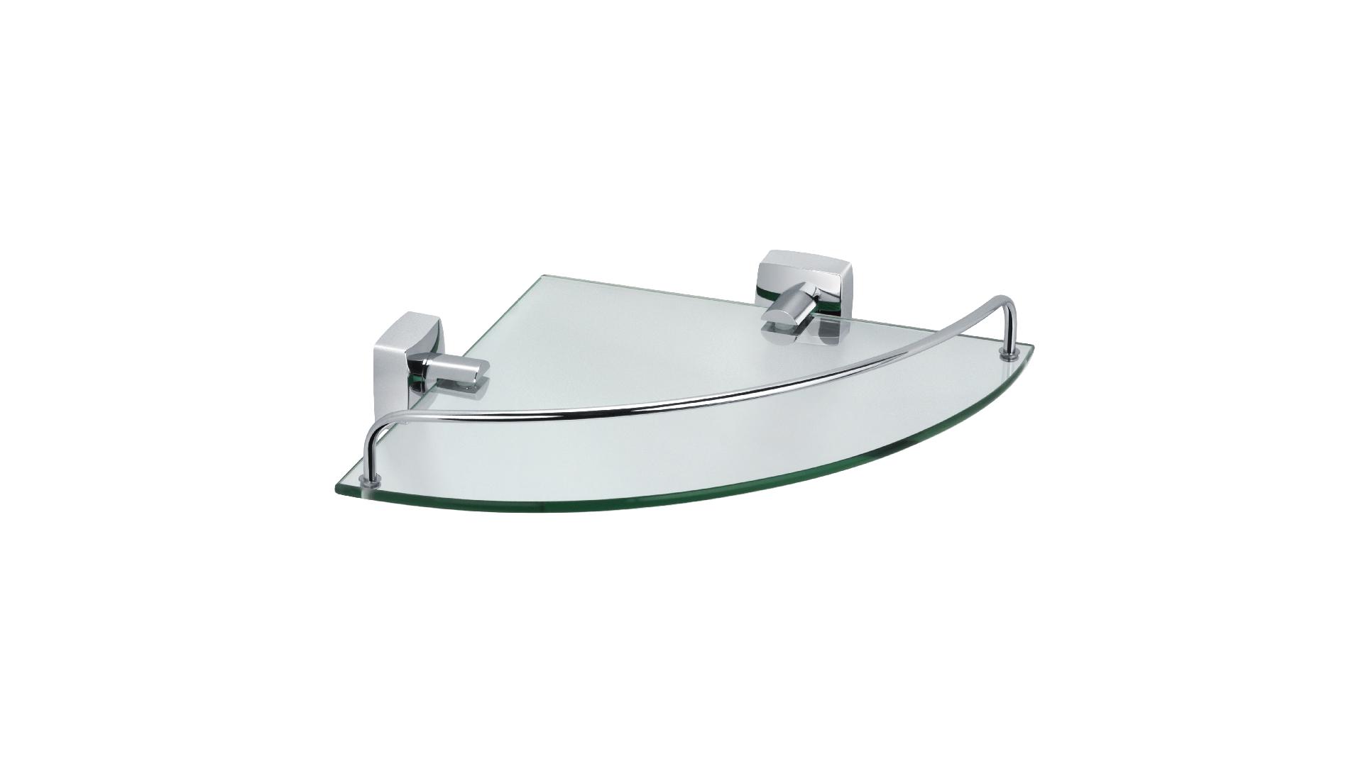 Полка стеклянная угловая Kvadro
