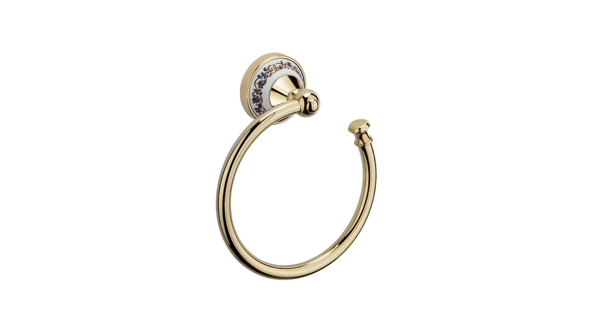 Полотенцедержатель кольцо Bogema Gold