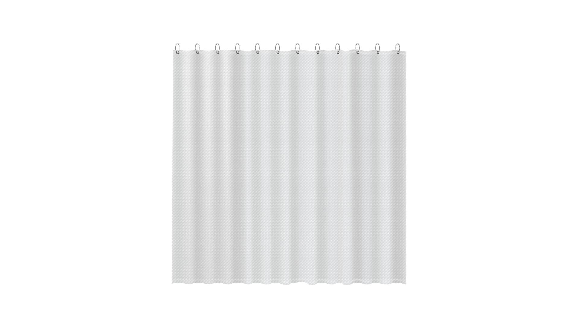 3D штора для ванной прозрачная